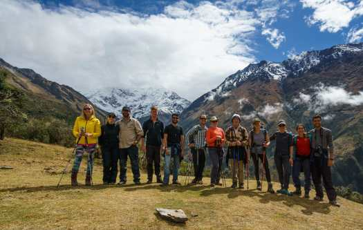 Group photo on the Salkantay Trek