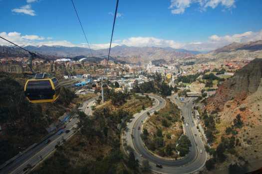 La Paz cable cars