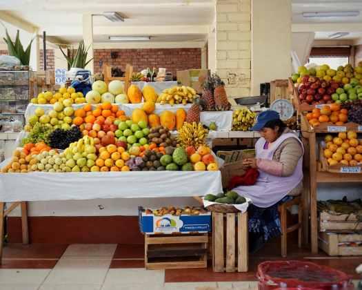 Food market in Pisac