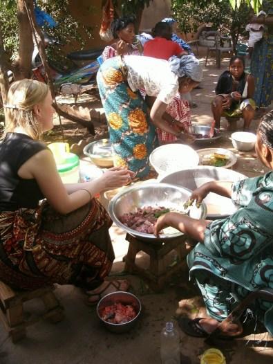 making local food in Mali
