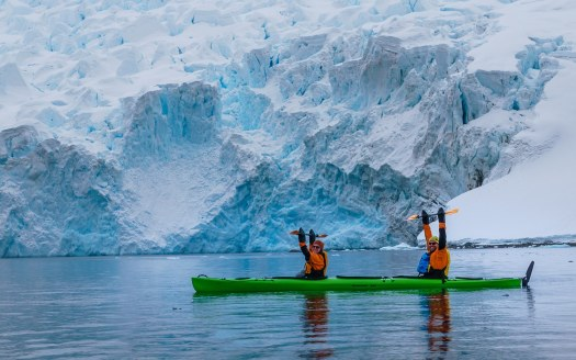 Kayaking in Antarctica
