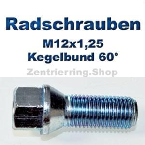 Radschrauben M12x1,25 mit Kegelbund 60°