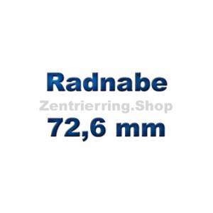 Radnabe 72,6 mm