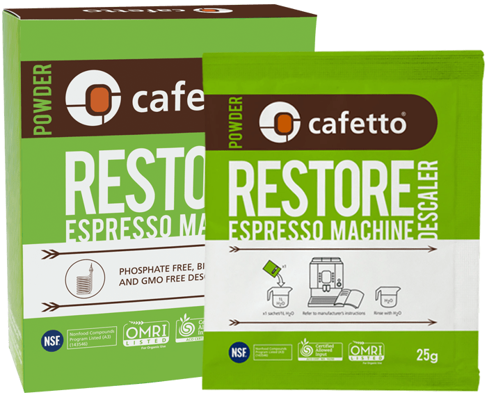 Cafetto Restore Descaler Powder x 4 sachets