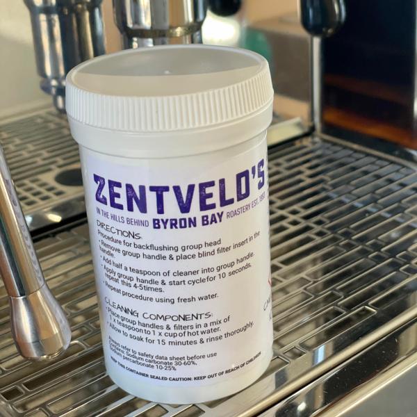 Zentveld's 100g jar espresso cleaner