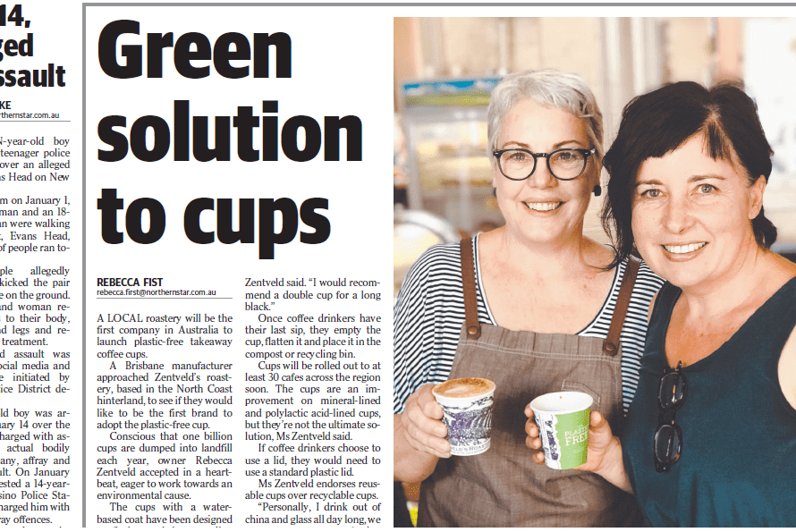 Launching Australia's first plastic free coffee cup at Tenterfield's The Corner Life and Style