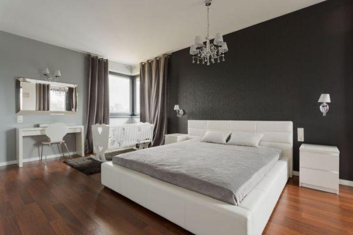 43692711 - big comfortable double bed in elegant classic bedroom