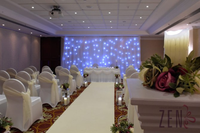 Maddie's Marriage Ceremony with additional twinkly back drop