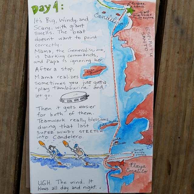 Baja kayak camping
