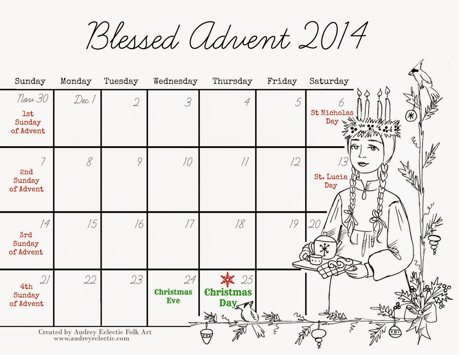 Free Printables And Coloring Pages For Advent