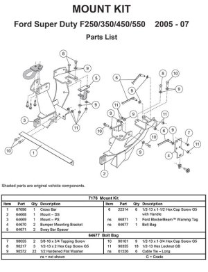 FISHER MOUNT KIT MINUTEMOUNT FORD F250SD550S