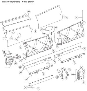 Fisher Snow Plow XtremeV Blade Parts