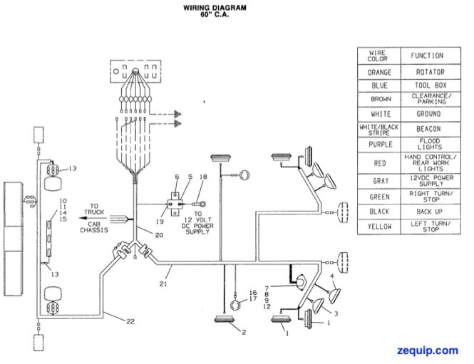 truck lite plow lights wiring diagram