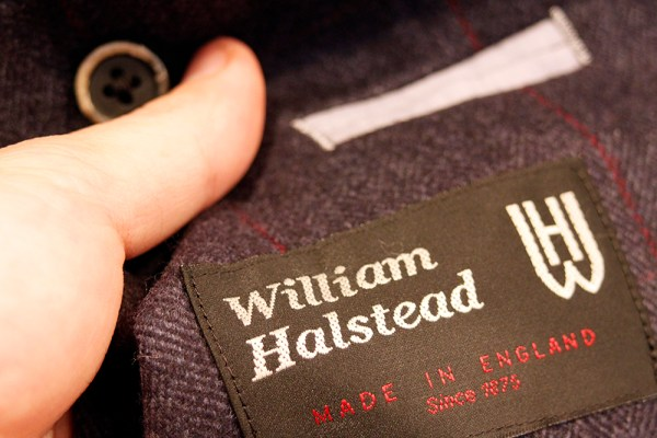 sample jacket william halsted logo