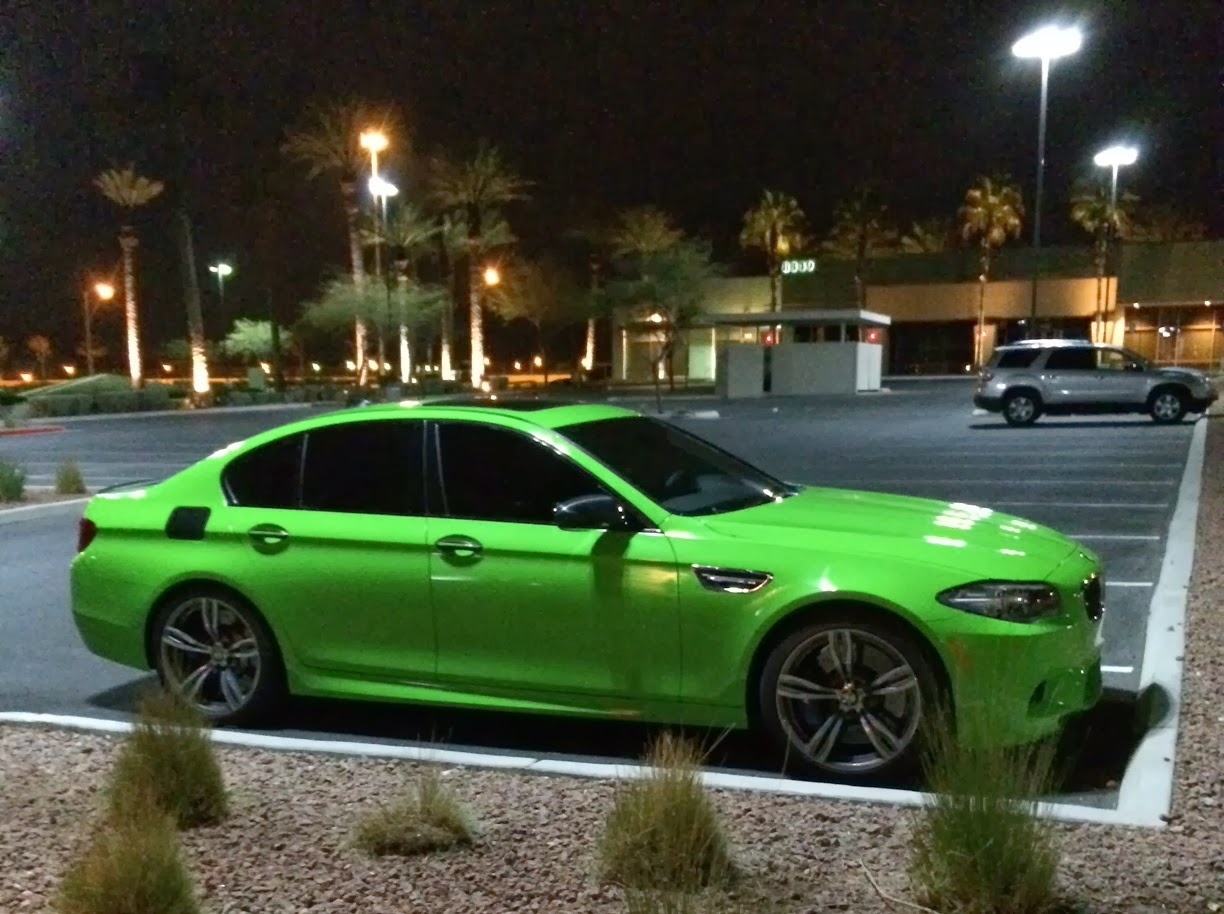 Very Lime Green F10 Bmw M5 Looks Great