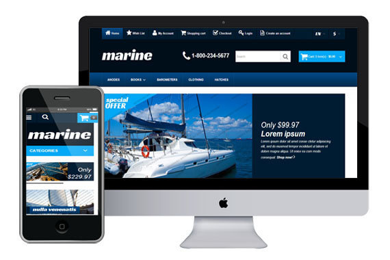 marine free responsive opencart themes themes