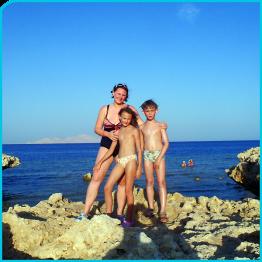 Edith, Jacqui und Lucas