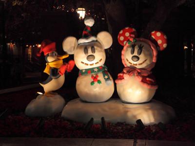 冬のディズニー雪だるま