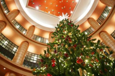 ホテルのクリスマスツリー