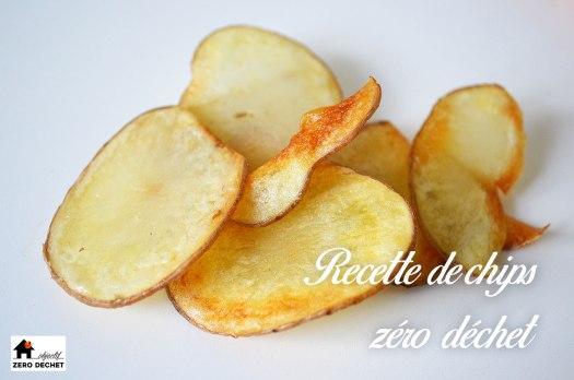 Recette de chips maison zéro déchet