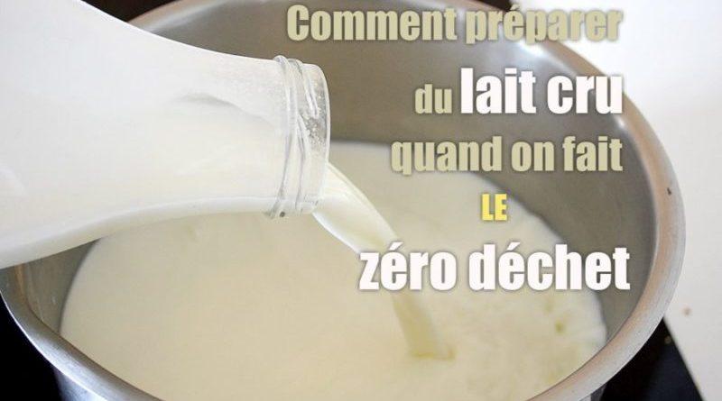 Bouteille de lait cru zéro déchet