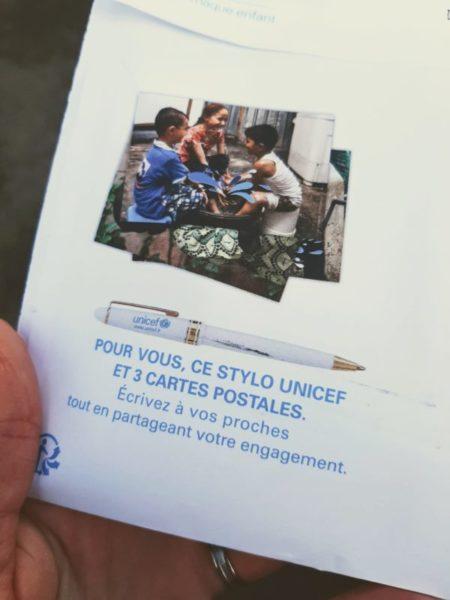 Cadeau gratuit UNICEF Objectif zéro déchet