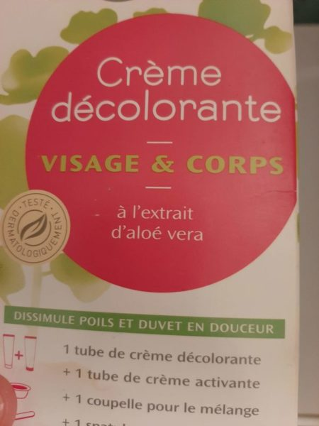 Crème décolorante Objectif zéro déchet
