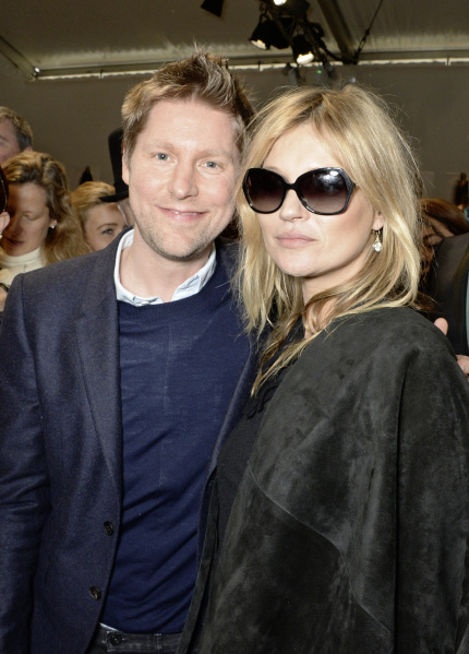 Christopher Bailey and Kate Moss