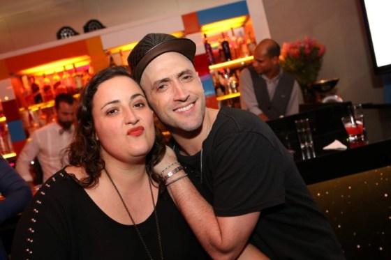 Paulo Gustado com a irmã produtora Ju Amaral