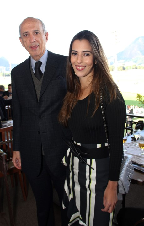 Luiz Alfredo Taunay e a filha Elisa Taumay (Custom)