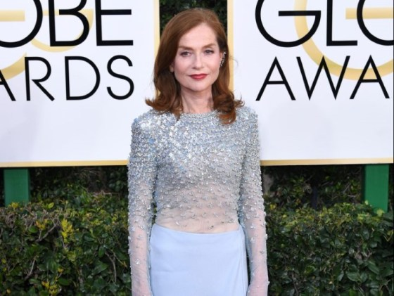 Isabelle Huppert a vencedora do Golden Golbe