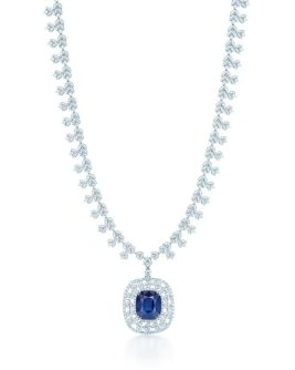 TIFFANY DIAMOND AND SAPPHIRE NECKLACE