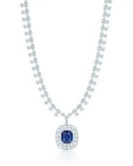TIFFANY DIAMOND AND SAPPHIRE NECKLACE
