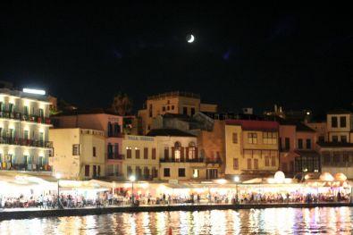 Porto di Chania by night