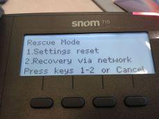Qui potete provare un ripristino della configurazione o un recovery del firmware