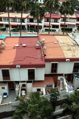 Panorama dal balcone dell'appartamento