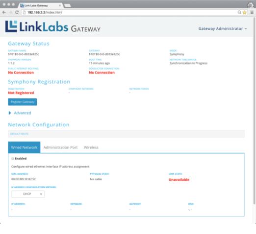 Link Labs gateway status
