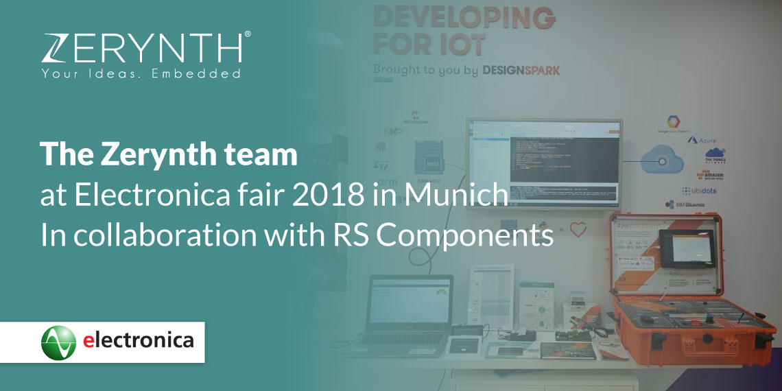 The Zerynth team at Electronica fair 2018 in Munich – In collaboration with RS Components