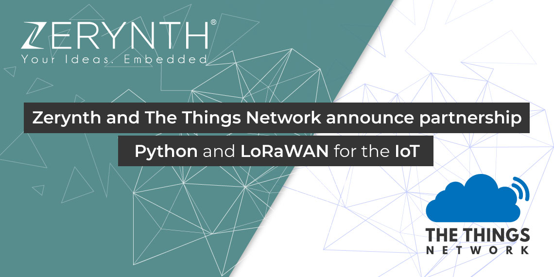 Zerynth Things Network partnership banner
