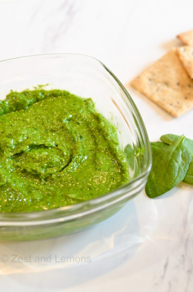 Spinach and Roasted Garlic Pesto