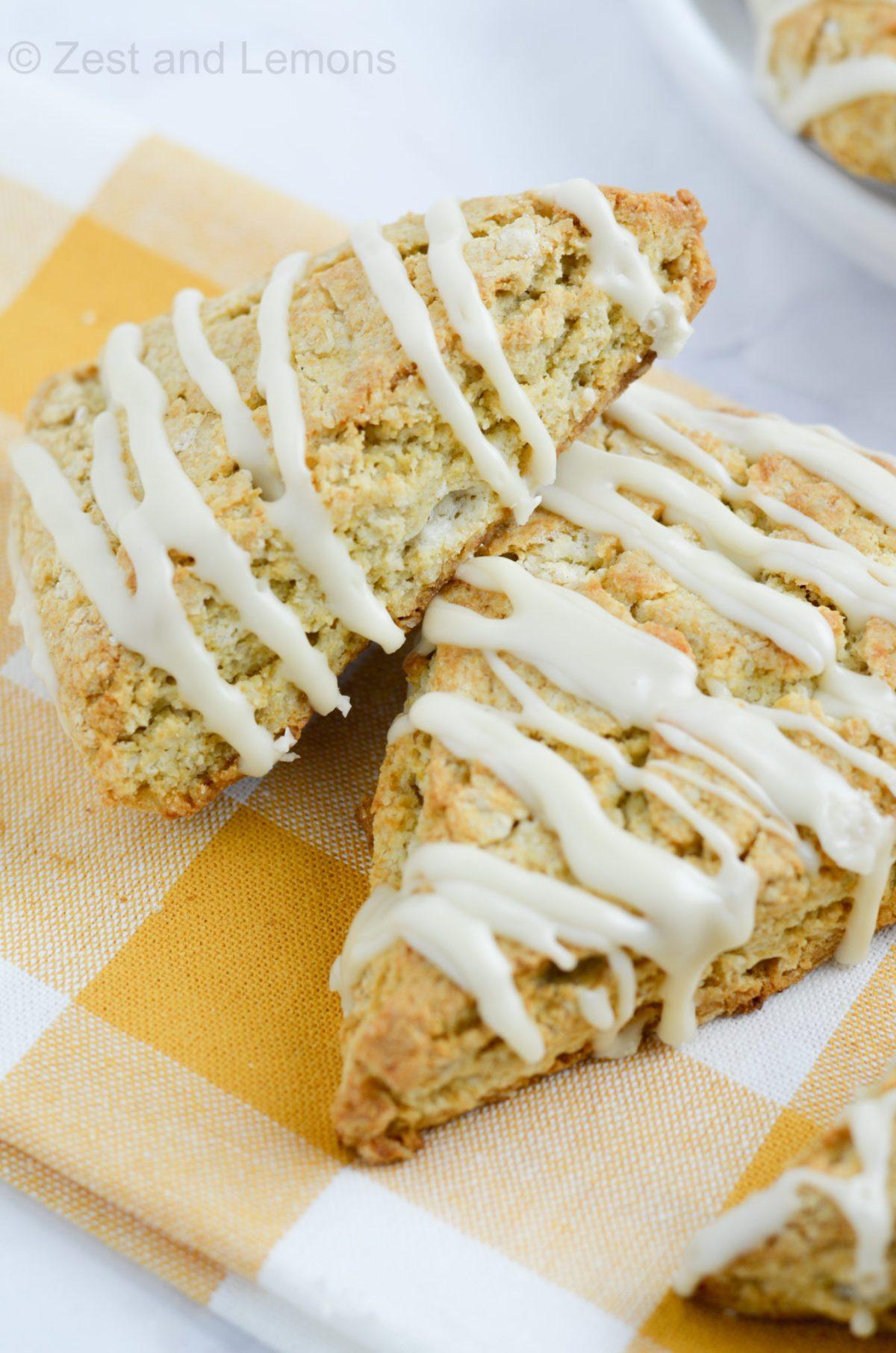 Gluten Free Maple Oatmeal Scones