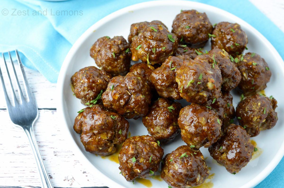 Sweet and Tangy Korean Style Meatballs