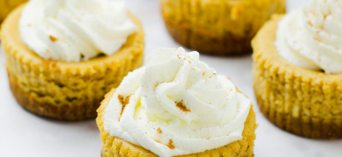 Mini Pumpkin Ricotta Cheesecakes (Gluten Free)