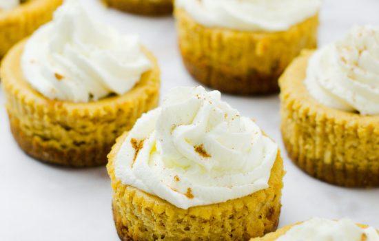 Mini Pumpkin Ricotta Cheesecakes (Gluten Free)