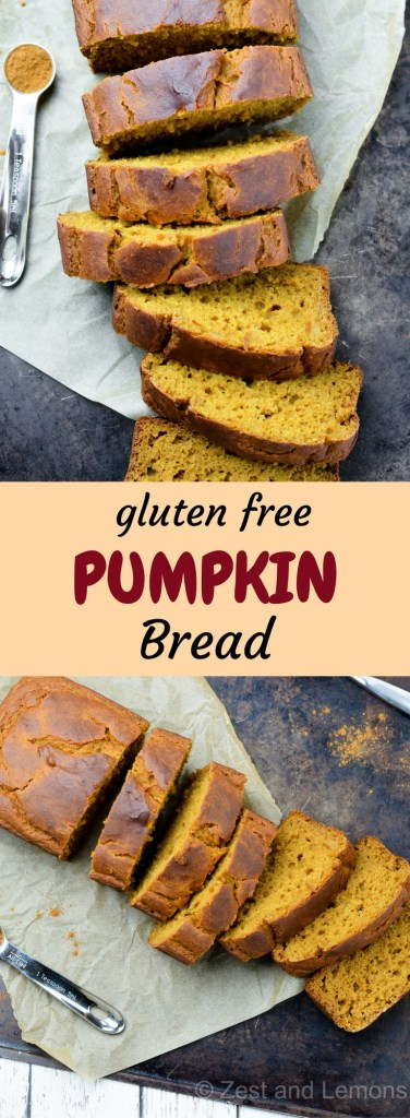 Gluten free pumpkin bread - Zest and Lemons