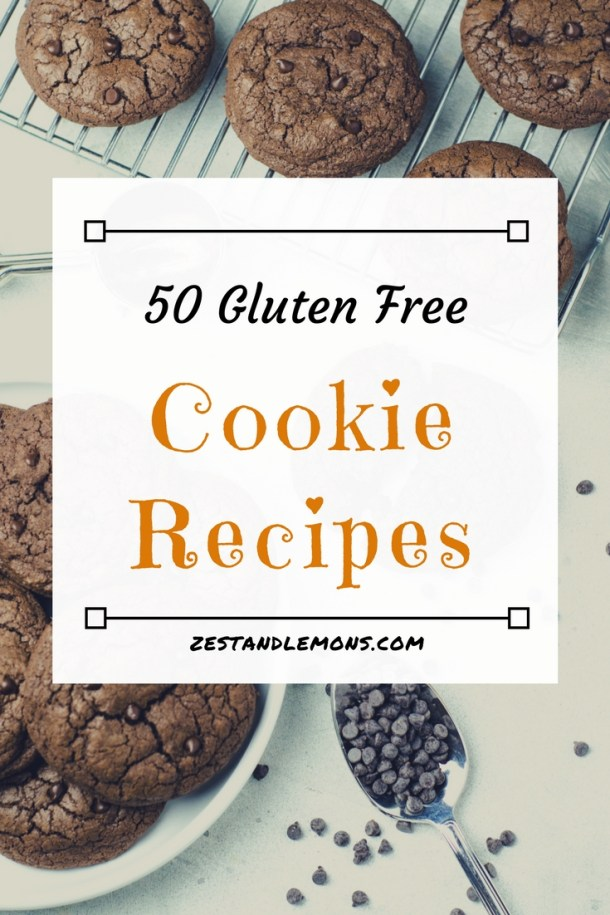 50 gluten free cookie recipes - Zest and Lemons #glutenfree #glutenfreecookies #paleocookies