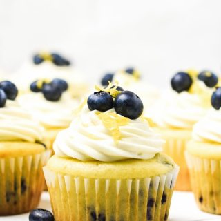 Gluten Free Lemon Blueberry Cupcakes - Zest and Lemons