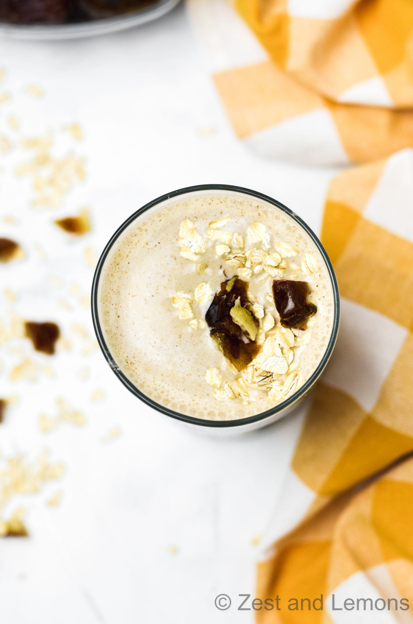 Sun Butter Oatmeal Date Smoothie