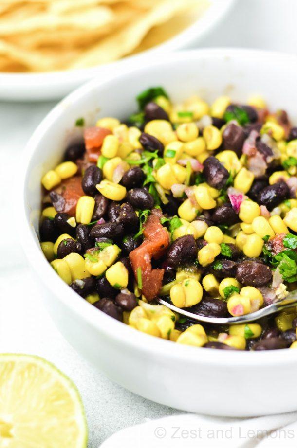 black bean and corn salsa - Zest and Lemons