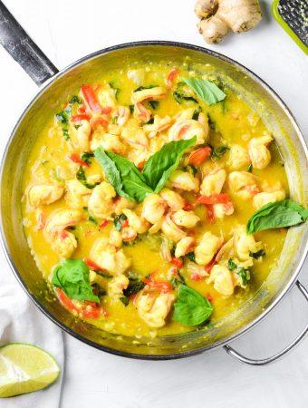 Thai coconut shrimp, gluten free - Zest and Lemons